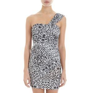 ISABEL MARANT Jeanne One Shoulder Mini Dress